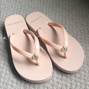 Tory Burch Thin Flip Flop - pink - size 6 (4 kids)